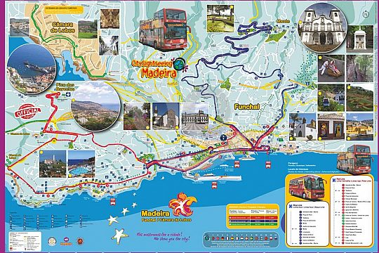 Map of the Funchal City Sightseeing bus