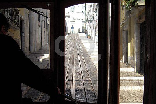 family sightseeing tour Lisbon funicular railway