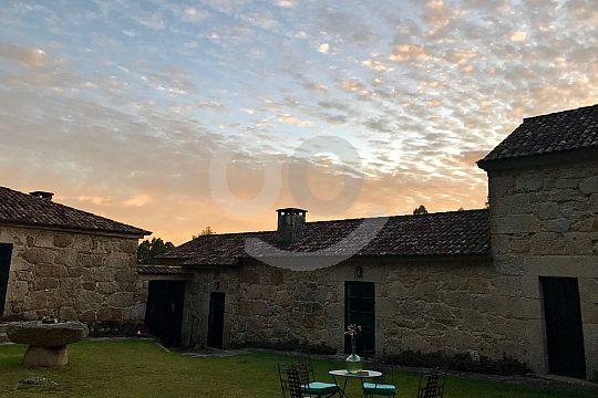Sunset in the Pontevedra Botanical Gardens in Galicia