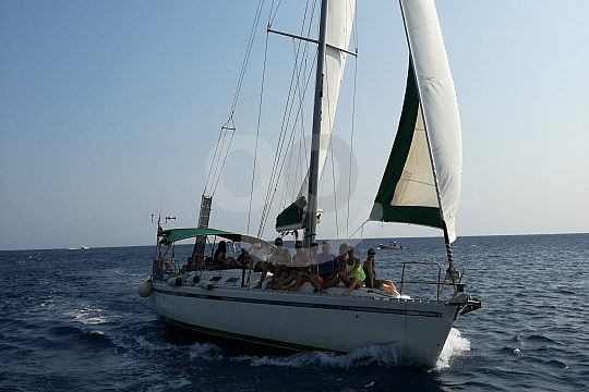 sailing trip along the north-east coast of Rhodes
