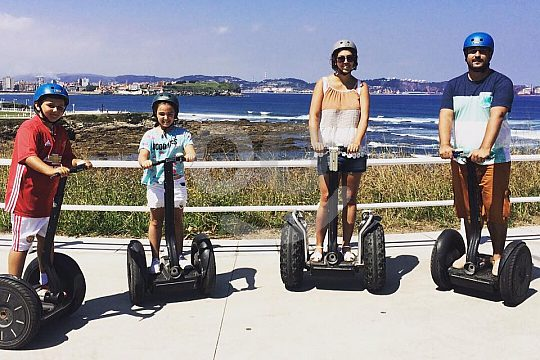 the Segway tour in Gijón for the whole family