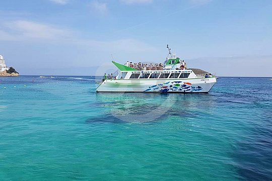 Magaluf glass-bottom boat tour