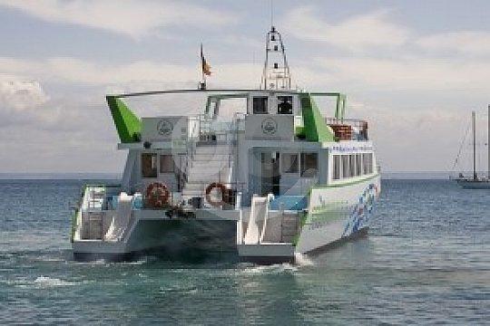 the glass-bottom catamaran