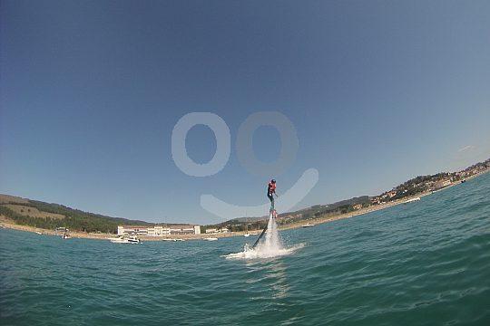 Flyboarding on the beach of Gorliz