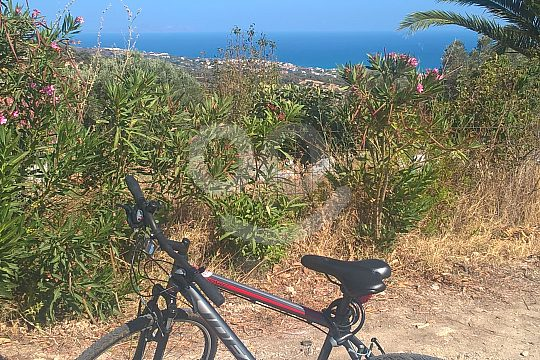 by bike in Crete into the mountains