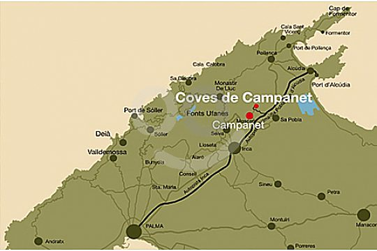 location of caves campanet