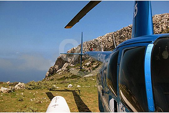 Helicopter up close Mallorca