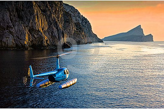 Helicopter ride in Sa Calobra