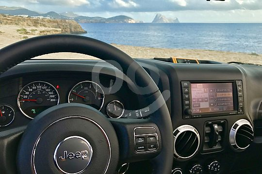 Drive a Jeep Wrangler in Ibiza