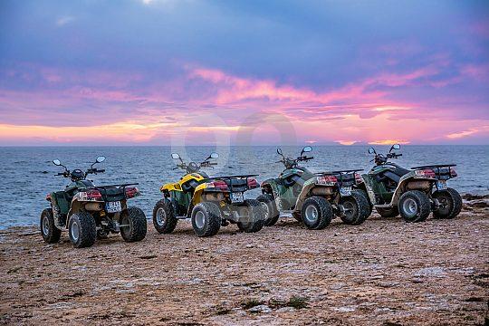 quad tour during sunset