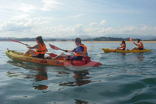 double kayak excursion Costa de Cantabria
