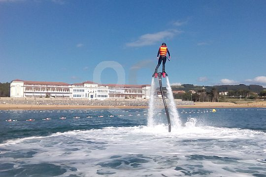 Above the water with the flyboard