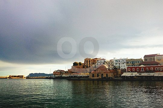 Venetian harbour in Chania on Crete