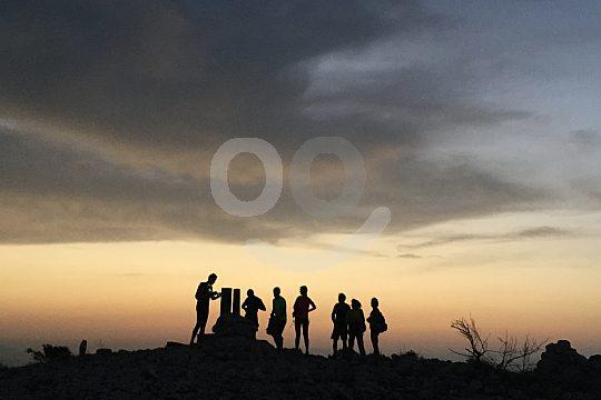 hiking Costa Blanca at dusk