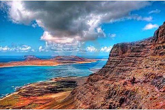 Breathtaking views of the island La Graciosa