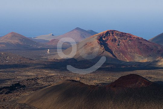 The south of the island of Lanzarote