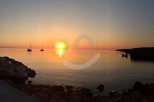sunset on the island Tabarca