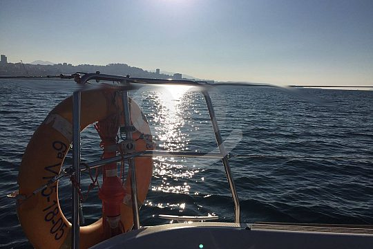 relaxing sailing trip with swimming stop
