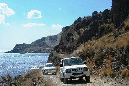 jeep safari on Crete's coast