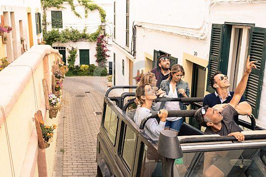 Im Jeep auf Menorca