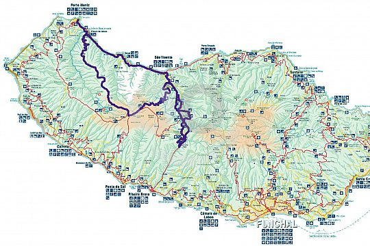Route of the Funchal Jeep Safari