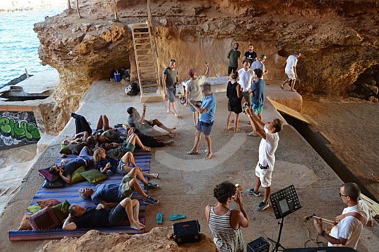 Visiting caves in Ibiza