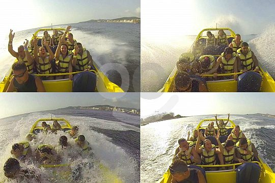 Get wet on the jet boat in Ibiza