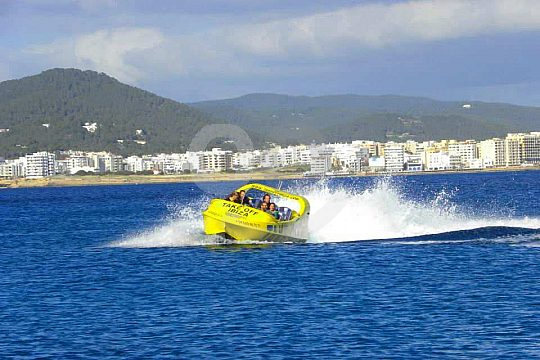 How fast is the jet boat in Ibiza