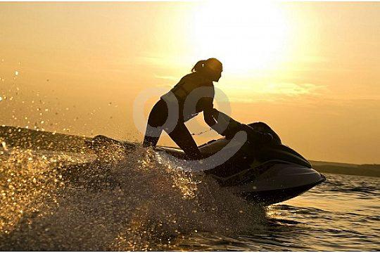 Sunset jet ski ride in Menorca