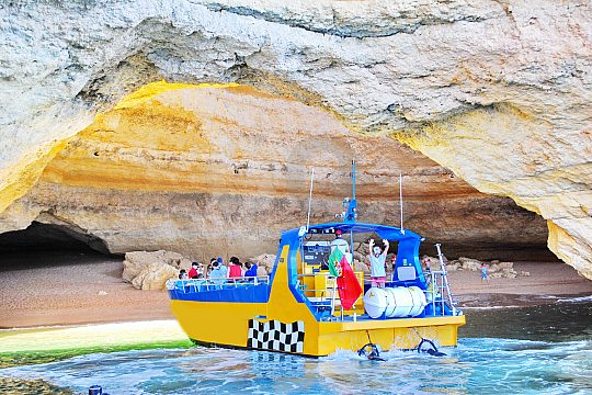 Caves in the Algarve by boat