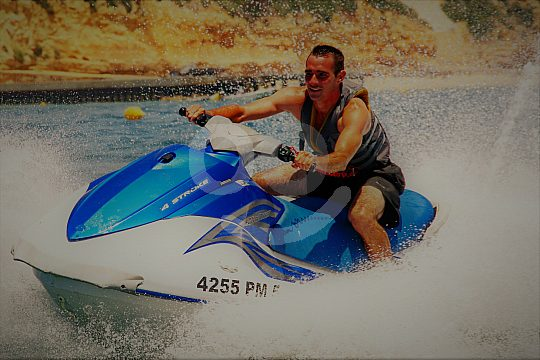 Jet skiing in Portugal in the Algarve