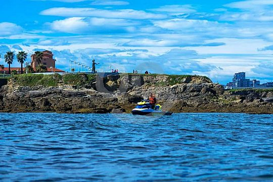Jet skiing on the Asturias coast
