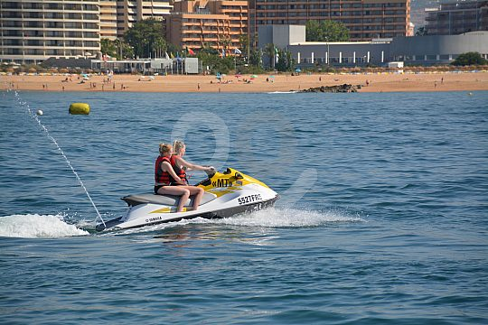 Jet-skiing from Vilamoura in the Algarve