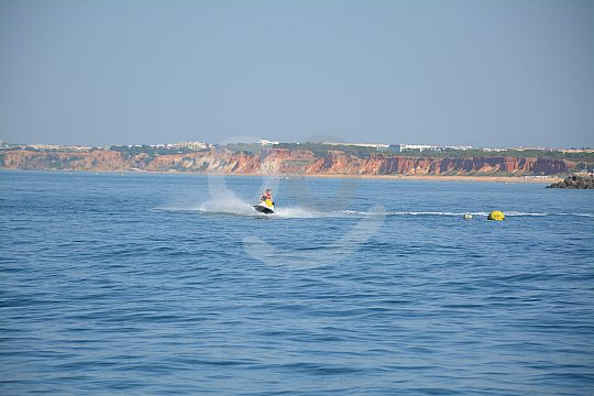 Jet ski surfing in the Algarve