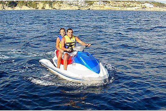 couple on one jetski