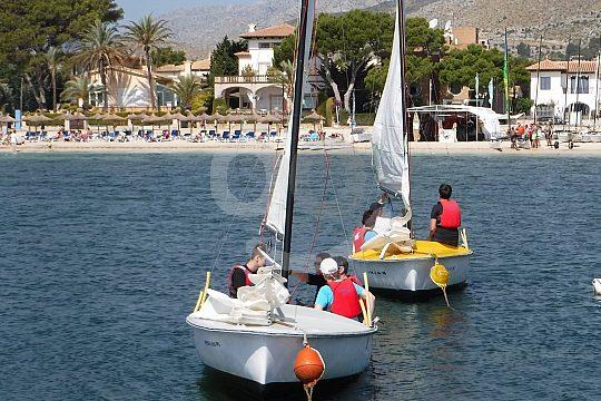 Pollensa dinghy sailing