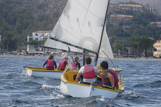Mallorca learn sailing in north of the island
