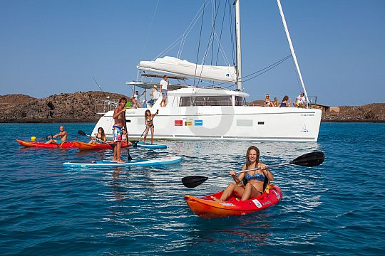 Kayak fahren bei der Tour Fuerteventura