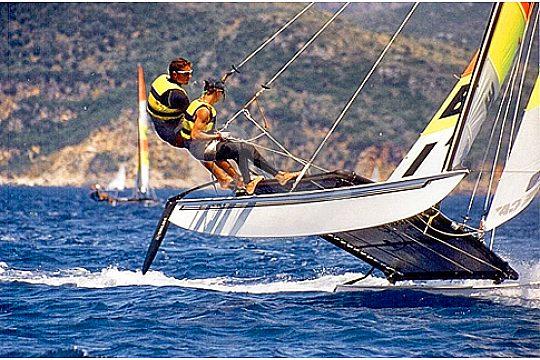 Sailing catamaran in Majorca