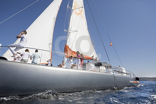 catamaran from the side