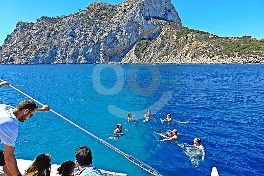catamaran tour bathing