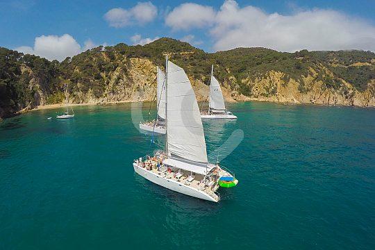 sail with the catamaran along Costa Brava
