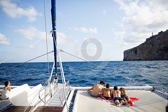 Catamaran tour on the coast denia