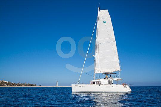 Sailing catamaran on the south coast