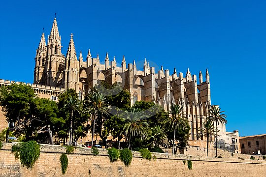 Cathedral of Palma de Mallorca on Paseo Maritmo