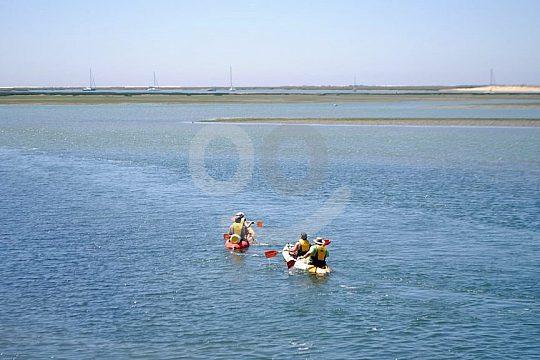 Kayaking through Ria Formosa