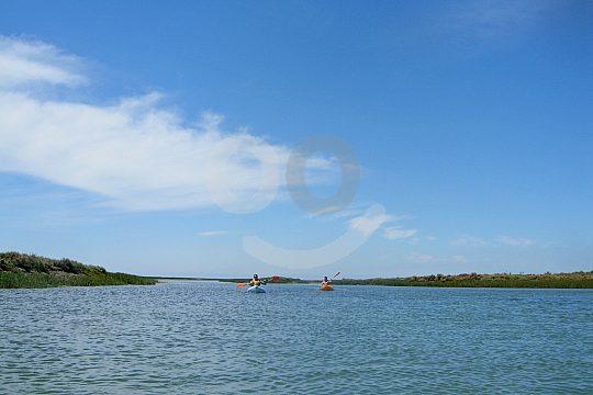 Beautiful blue water in the Algarve in Portugal