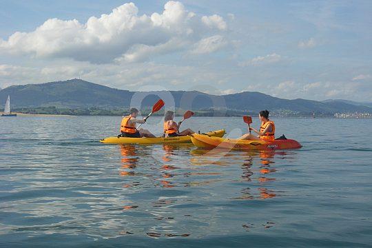 paddling fun Santander kayak tour