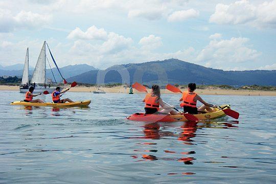paddle through the bay of Santander