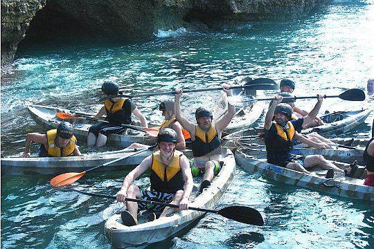Kayak treasure hunt Majorca adventure